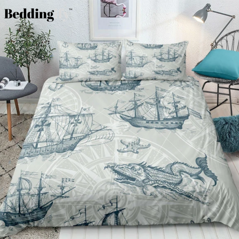 Nautical Decor Sailboat Bedding Set Bedding Set Unique Duvet Bed