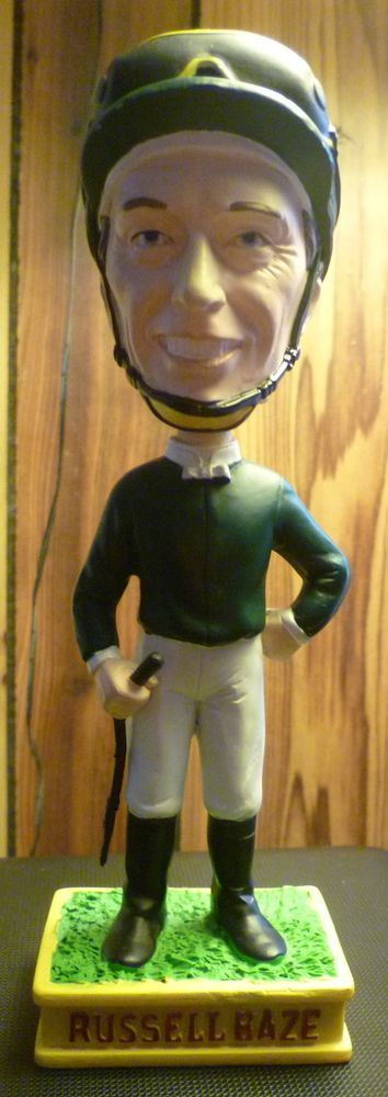 Bay Meadows Race Track Russell Baze SGA Bobble Head - Rare Jockey Nodder