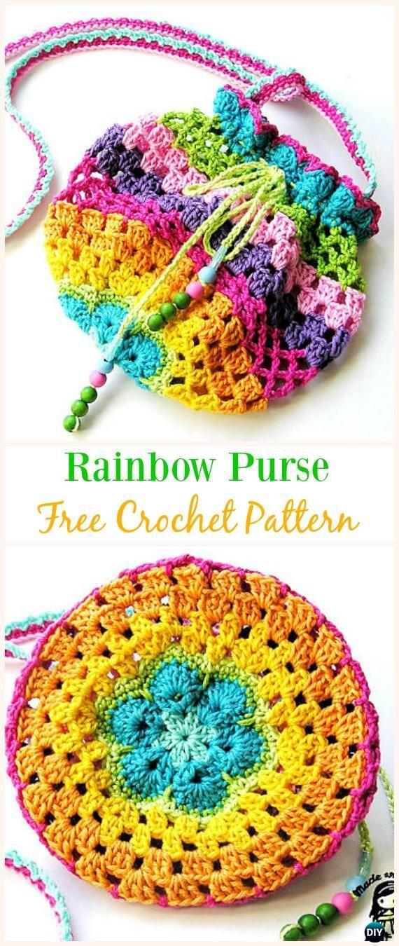 Patrón de ganchillo de arcoiris sin ganchillo - # Crochet Drawstring ...