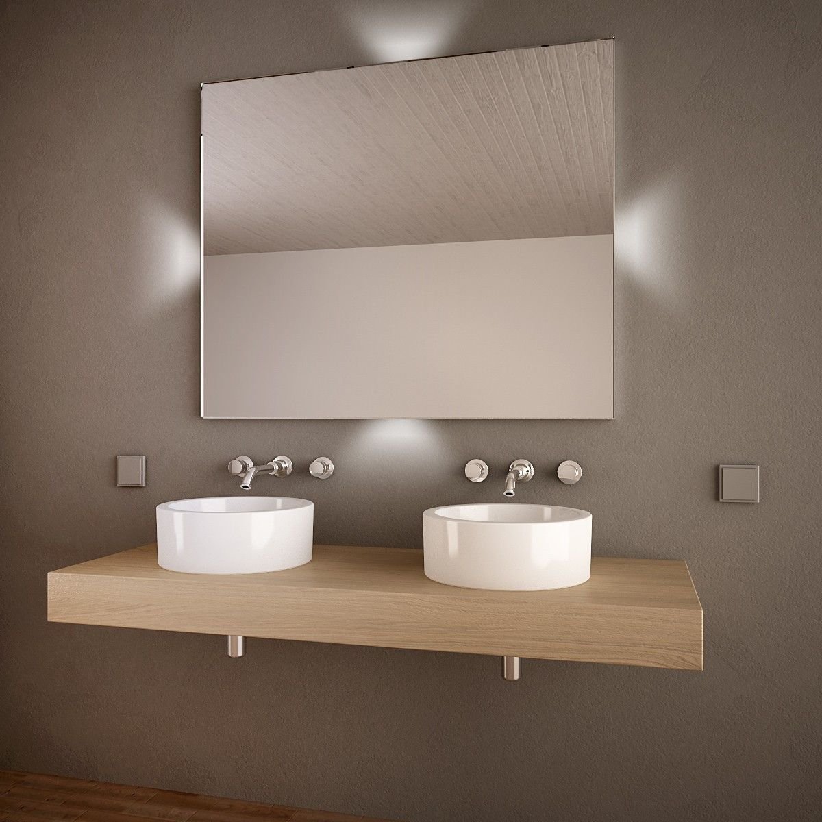 Badezimmerspiegel Led Lucerna Hinterleuchteter Spiegel Fur