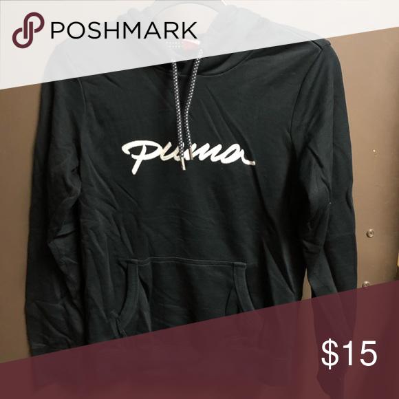 096ea79163e8 Black Puma hoodie Black hoodie with Puma logo on front Puma Sweaters ...