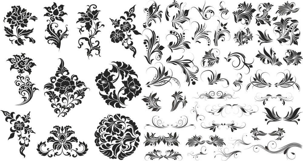 Flower Floral Set Free Vector cdr Download 3axis.co Бумага