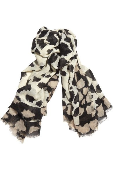 Burberry Printed wool, silk and cashmere-blend scarf | Scarf Love ...