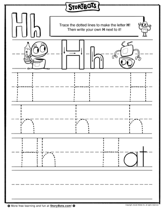 how do you trace the letter h a pencil will come in handy kindergarten ideas lettering. Black Bedroom Furniture Sets. Home Design Ideas