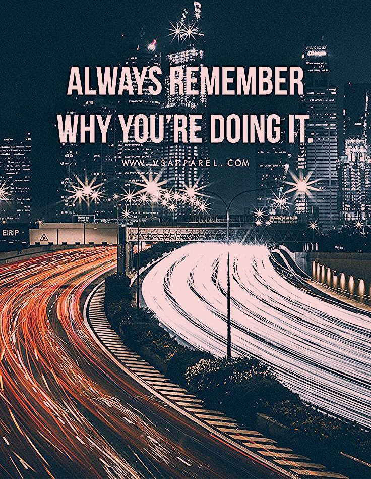 Denken Sie immer daran, warum Sie es tun. Besuchen Sie www.V3Apparel.com/MadeToM... -  fitness motiv...