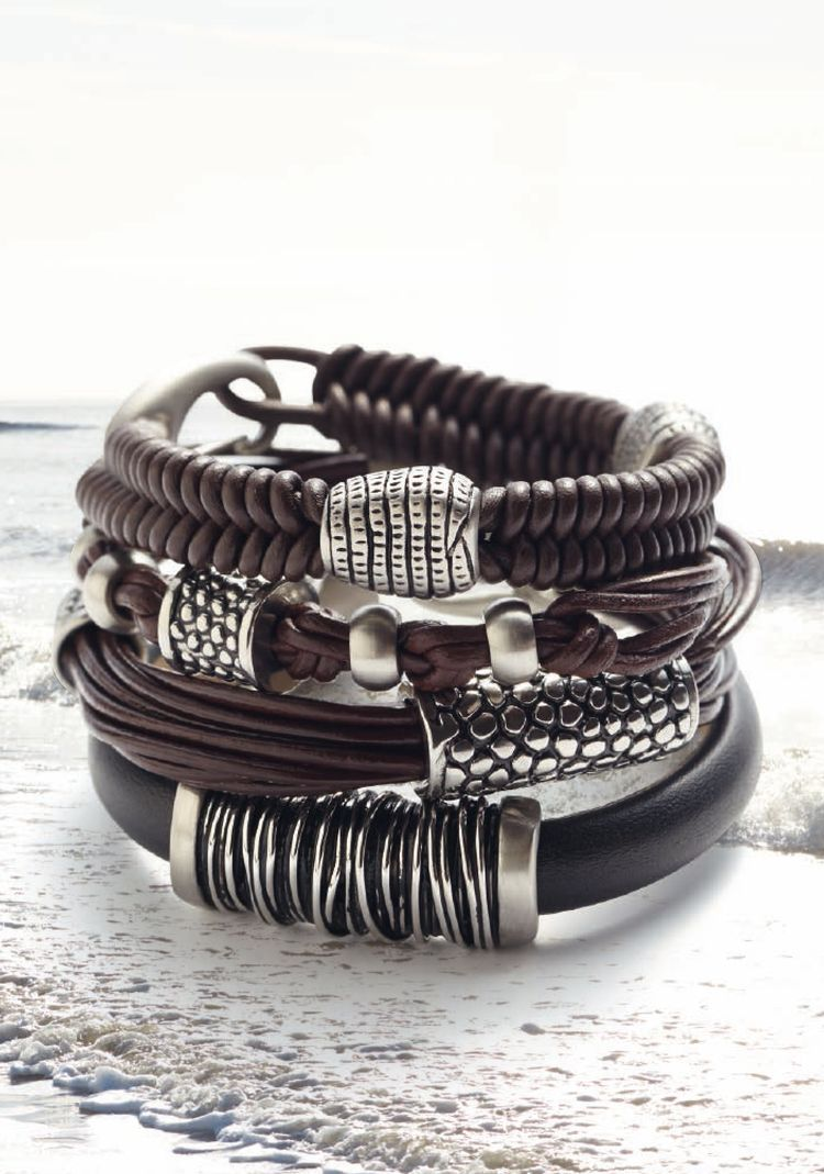Pin by anil shinde on menus jewelry pinterest bracelets leather