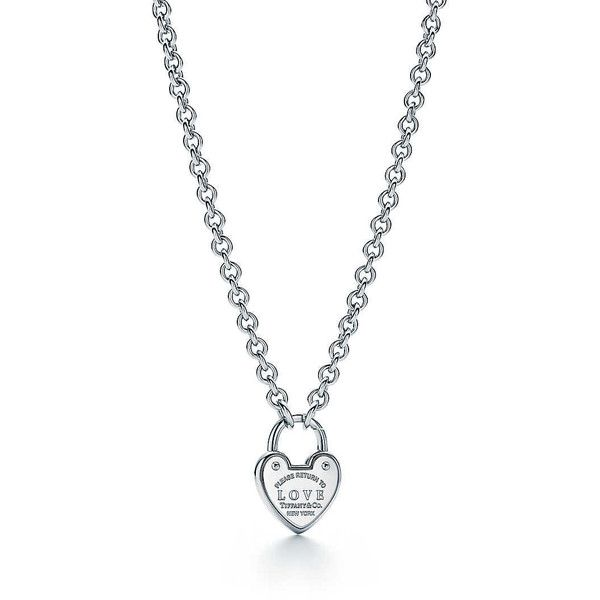 Return to Tiffany Love Lock Necklace ($7,000) liked on