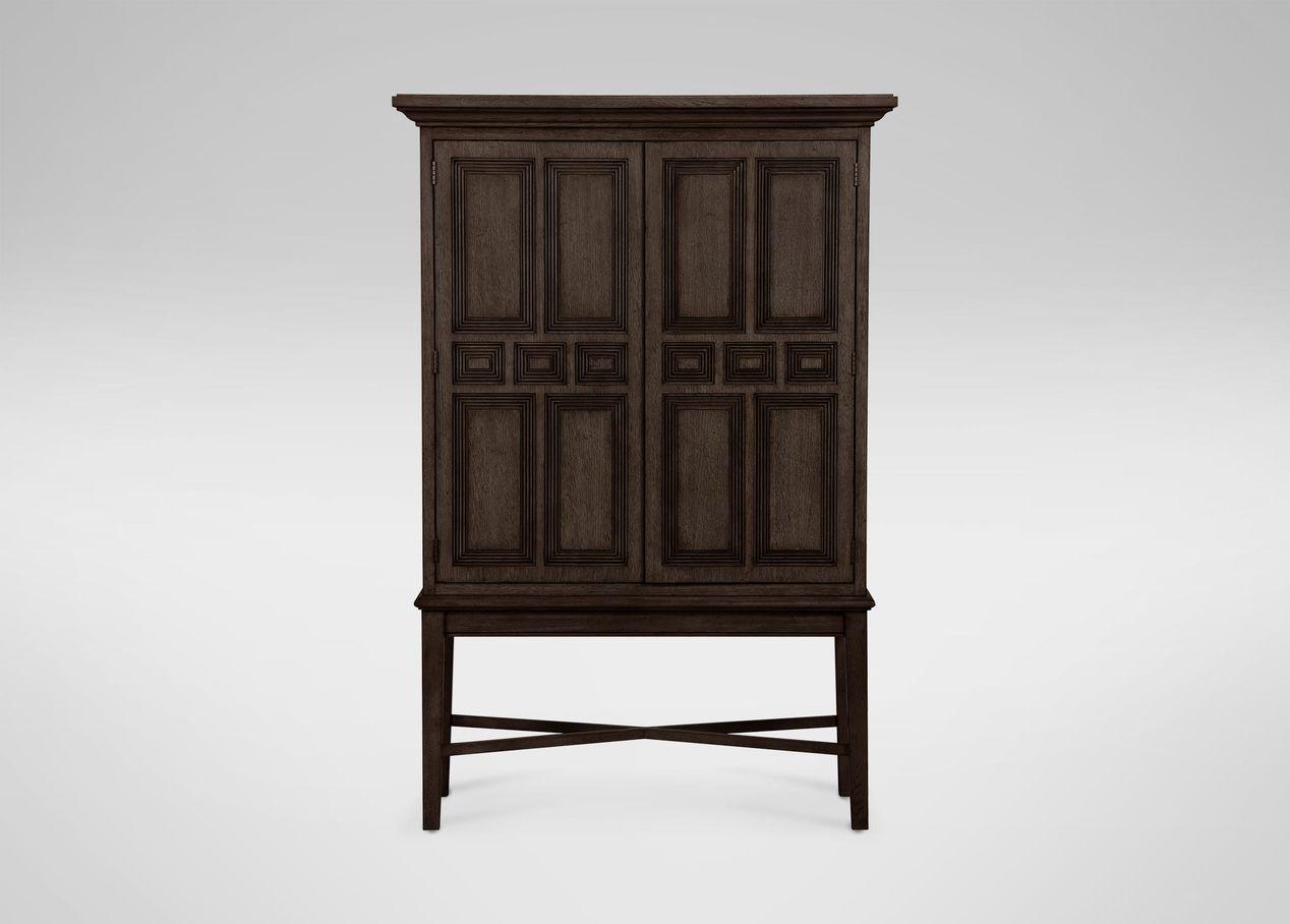 Carys bar cabinet storage display ethan allen
