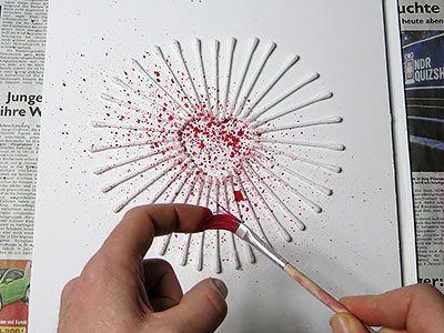 Kunst Ideen - Herz sprühen #artideas #art #artideasforkids #artideaspaintingacrylicabstract #diyartideas #kunstideengrundschule