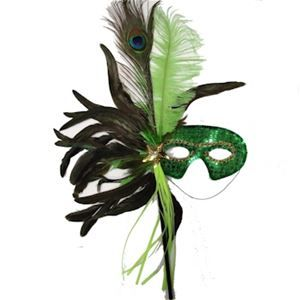 Masquerade Mask Table Decorations Apple Green Masquerade Mask With Sequinsuse In Mardi Gras