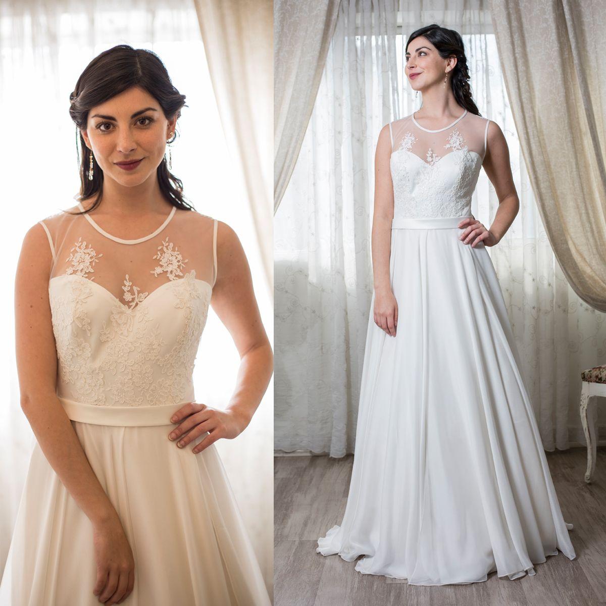 Vestido de novia escote ilusión illusion neckline wedding dresses