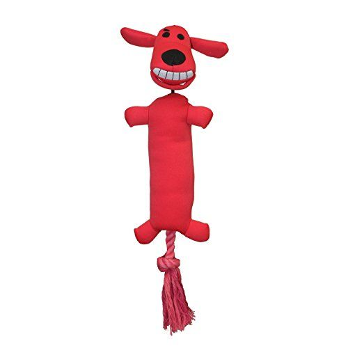 Multipet 66146 Loofa Launcher Plush Dog Toy 12 Red Check This
