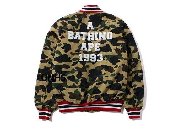 63e36593d4a1 Bape unhs 1st camo v for ar sity Camouflage baseball jacket outerwear  lovers-inJackets from Men s Clothing   Accessories on Aliexpress.com