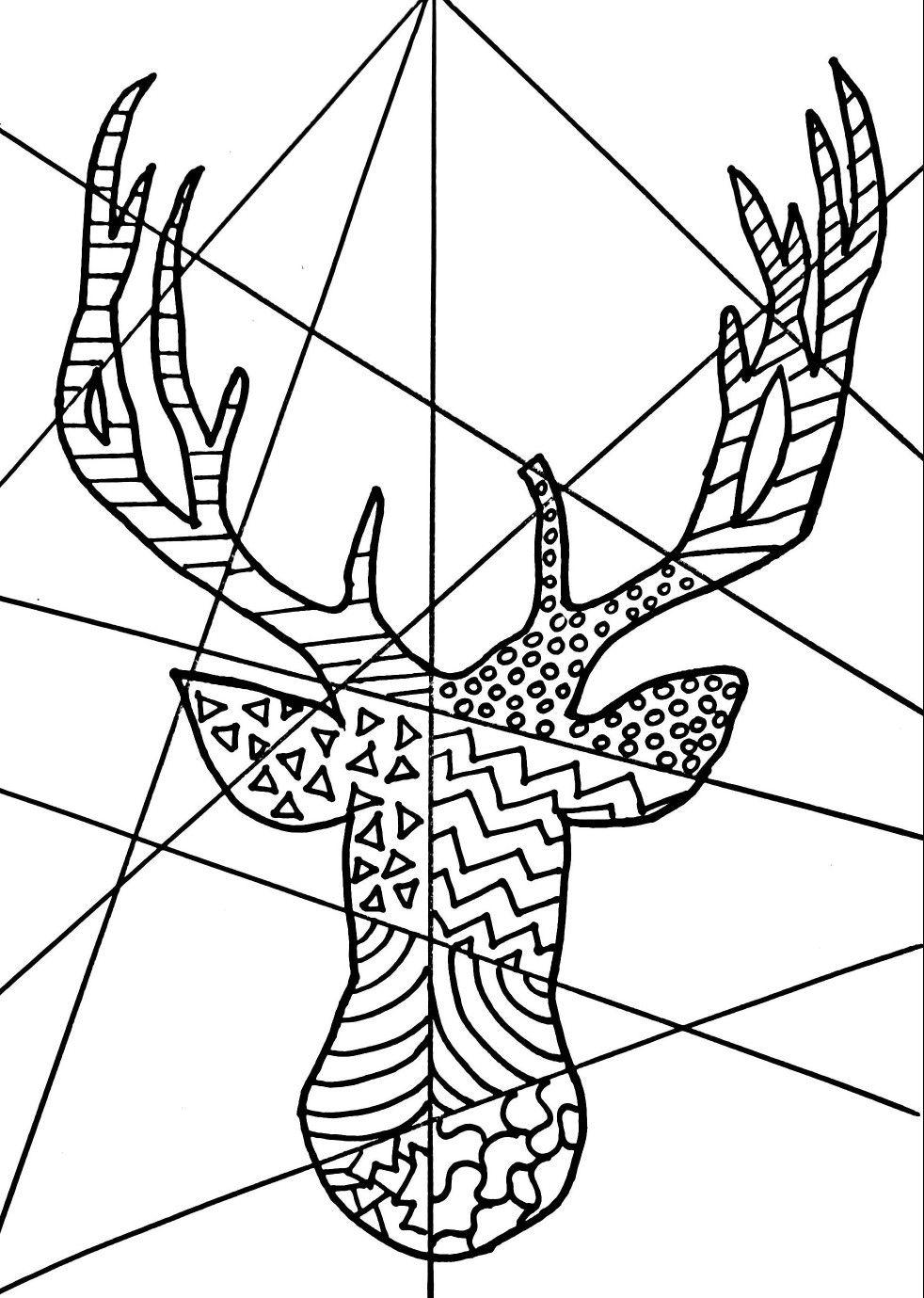 Free Reindeer Printable Pop Art Pop Art Colors Pop Art Coloring Pages Homeschool Art