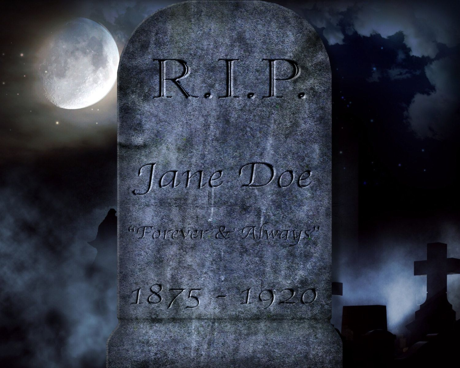 halloween tombstone headstone editable template templates