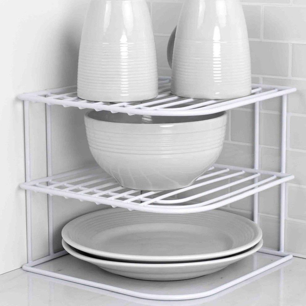 32 under 20 things from walmart that ll make your kitchen way better corner rack shelving racks home basics pinterest