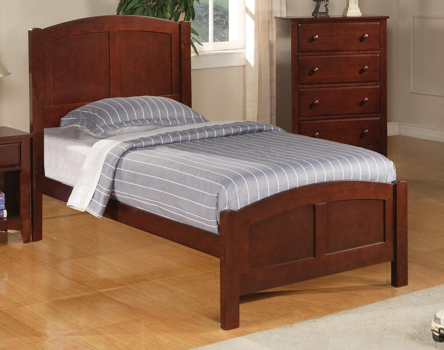 Coaster 400291T Parker Cappuccino Twin Panel Bed