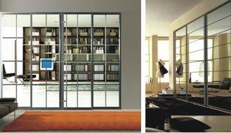 중국 Heavy Duty Partition Sliding Doors For Bedroom, Luxury Modern Aluminum Glass Room Dividers 협력 업체