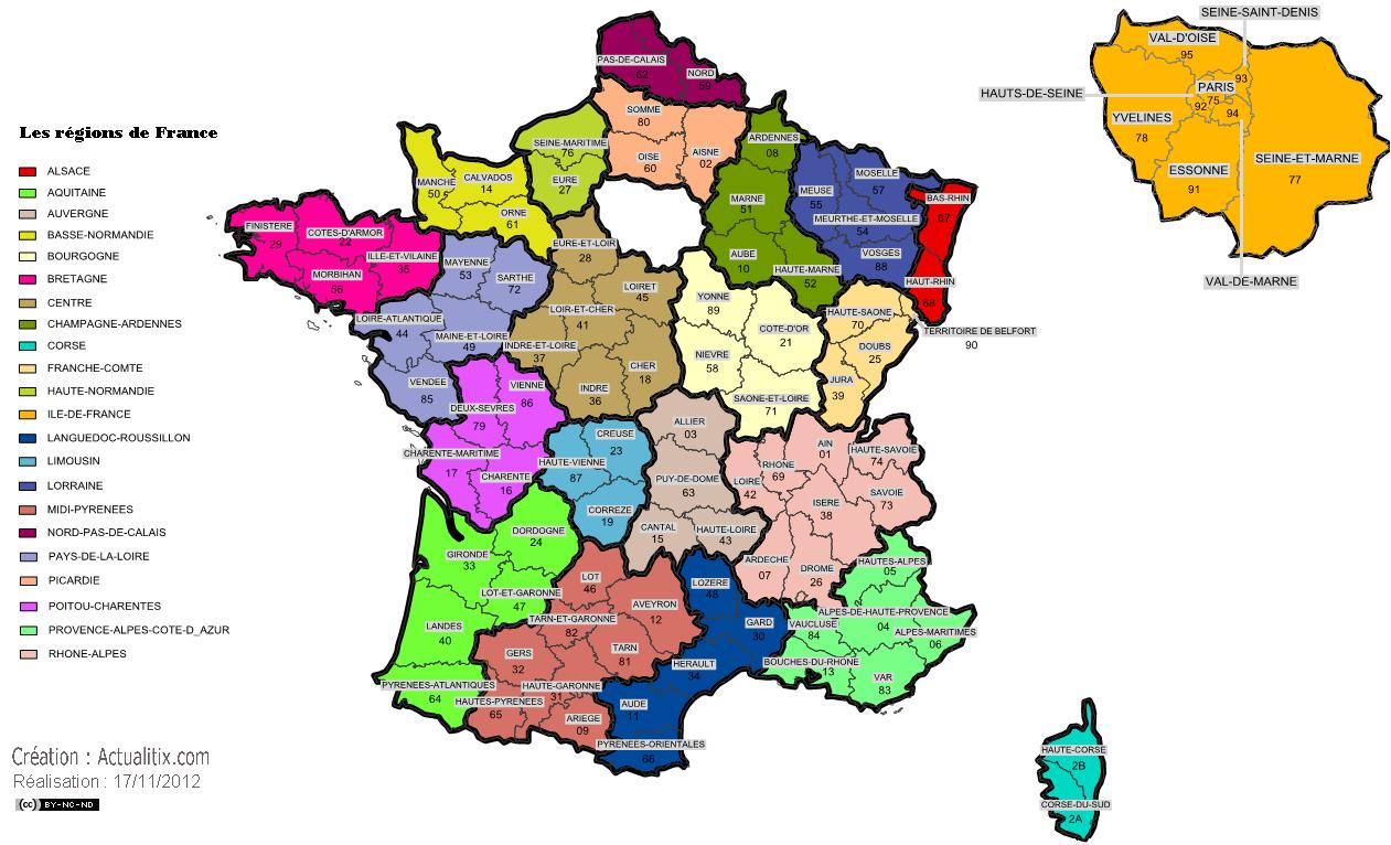 Http Www Actualitix Com Wp Content Uploads 2012 11 Carte Des Regions De France Png