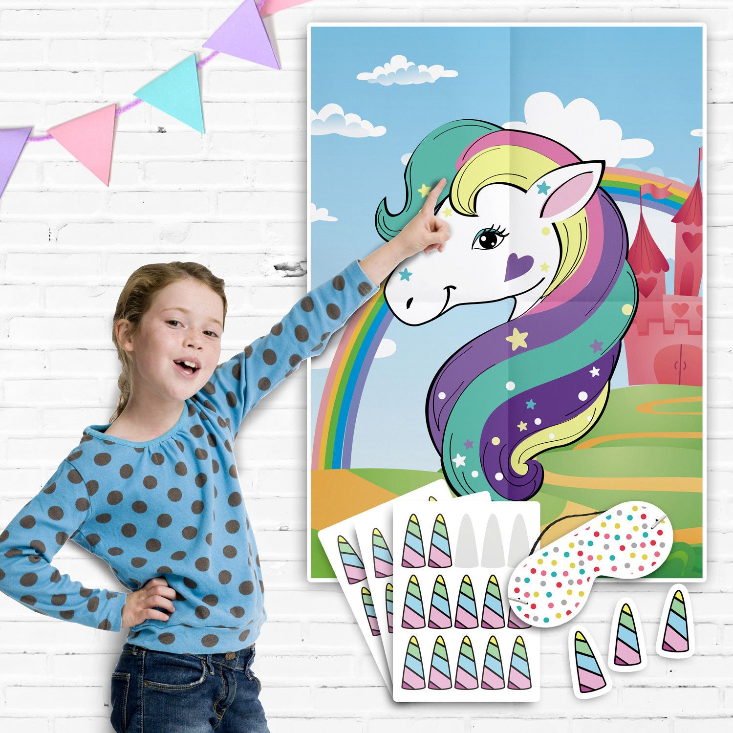Pin the Horn on the Unicorn Games ~ Pin the Tail Game #017