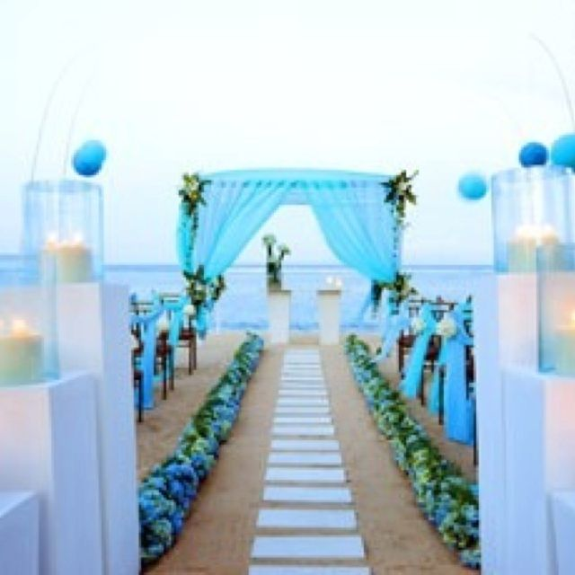 Beach Wedding Decorations Ideas: 55 Awesome Blue Beach Wedding Ideas