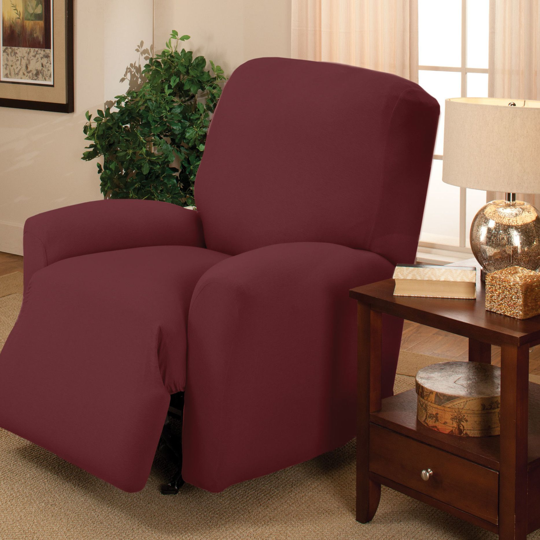 slipcovers for corduroy stretch recliners pin sure recliner fit taupe slipcover pixel