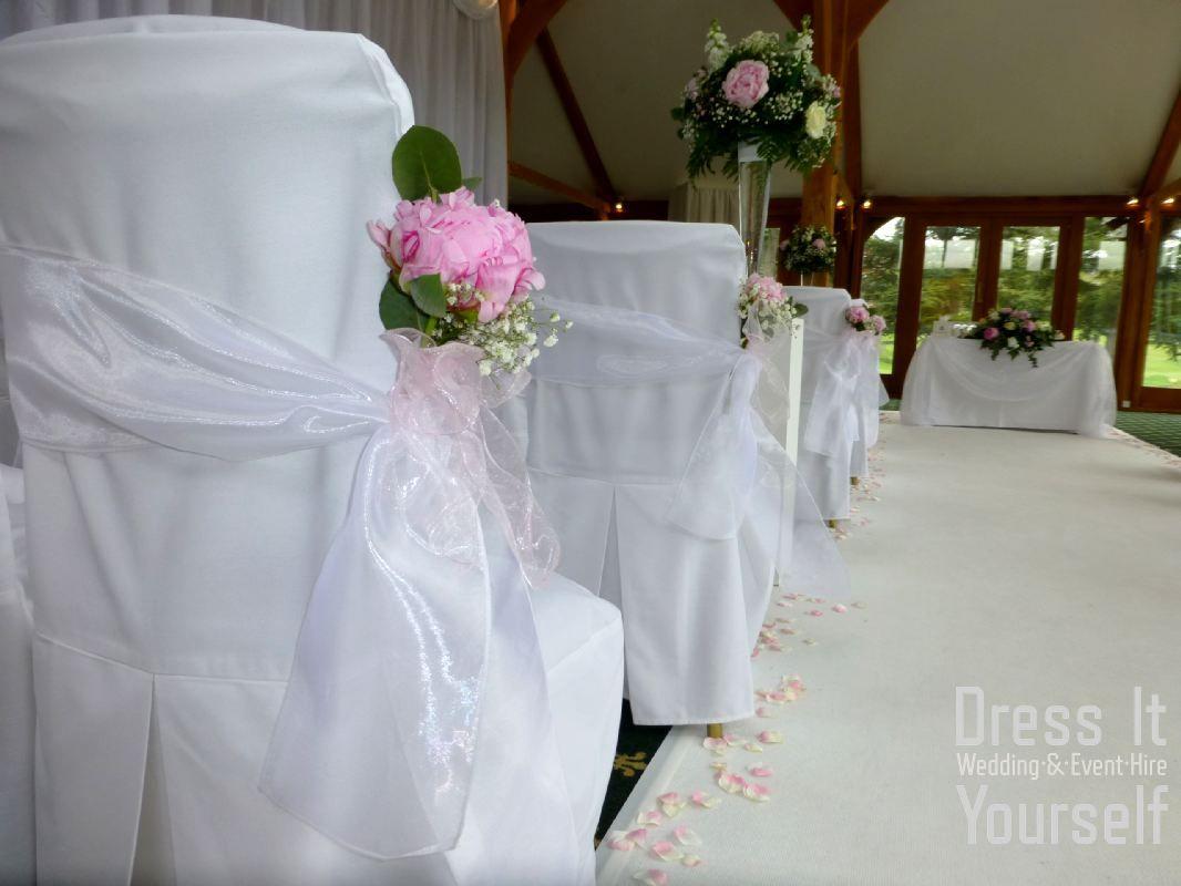 Wedding venue decoration ideas  Brocket Hall Golf Club  Ceremony  Ideas for decorating the