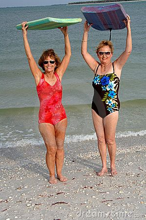 a78cc8340c892 old ladies swimming | Active Older Women At Beach Royalty Free Stock  Photography - Image .