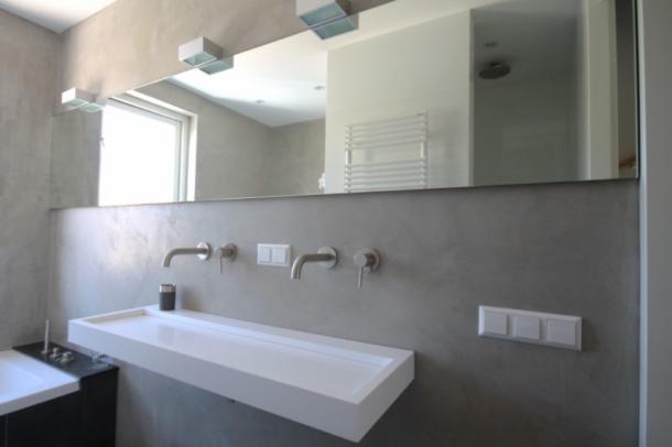 Italiaans stuc in de badkamer. je moet het gevoeld hebben.. ideeën