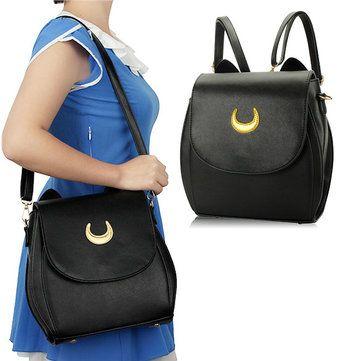 Ladies Moon Print Casual Crossbody Bag Sweet Leisure Backpack Elegant Shoulder Bag Online - NewChic