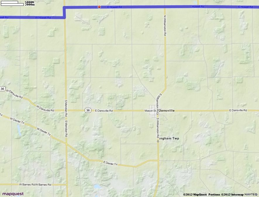 Us Map States Mapquest%0A Driving Directions from Holt  Michigan to Howell  Michigan   MapQuest