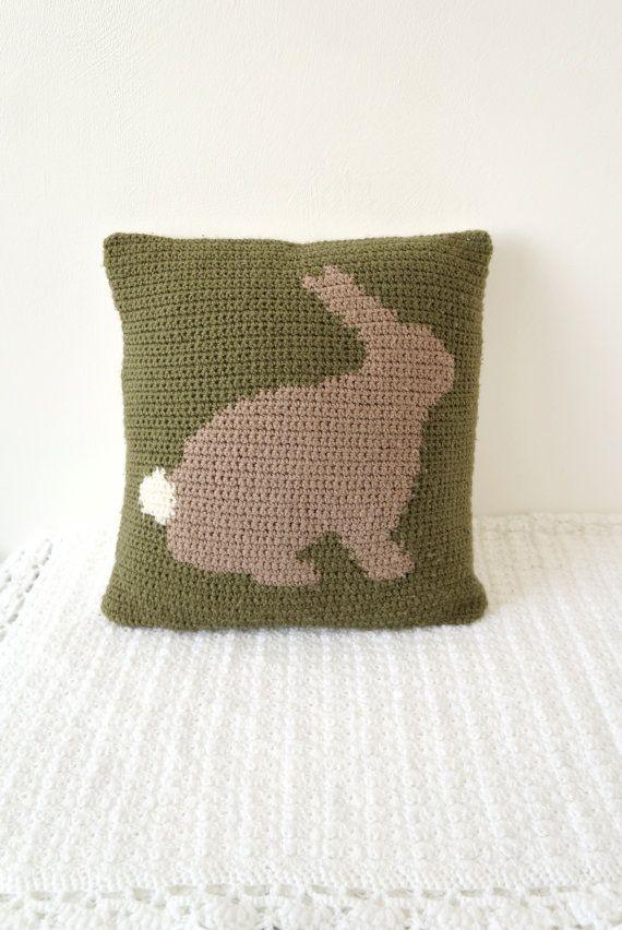 Kissen häkeln Intarsien Muster Hase Kaninchen Kissen Graph Muster ...