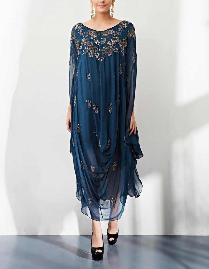 2cd2808879 Navy Blue Dress in 2019 | indian fashion | Dresses, Navy blue ...
