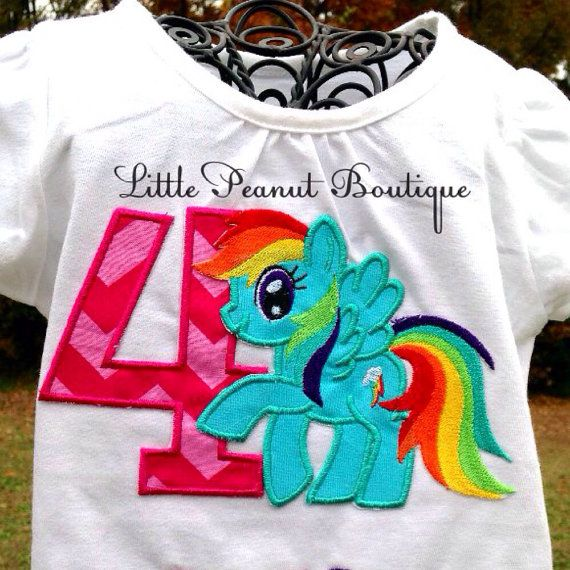 Rainbow Dash Birthday Shirt My Little By LilPeanutsBoutique 1800