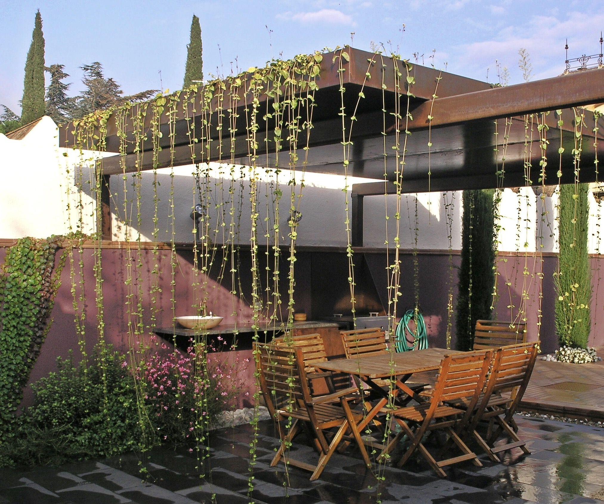 Esta pérgola-cubierta ajardinada la diseñamos para un patio paricular en Cardedeu, Barcelona.