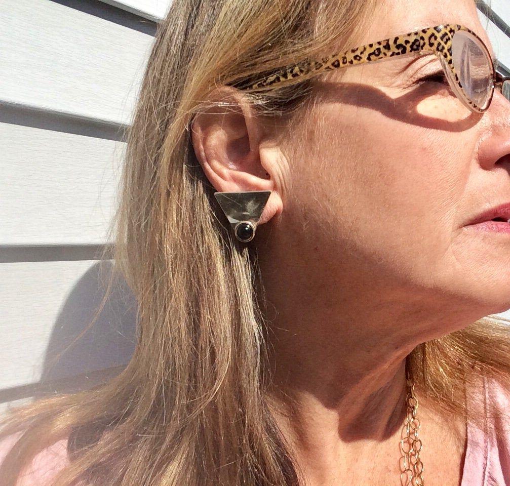 14k Gold Earrings Gold Gemstone Earrings Black Onyx Gold Etsy 14k Gold Earring Gemstone Earrings Gold Earrings
