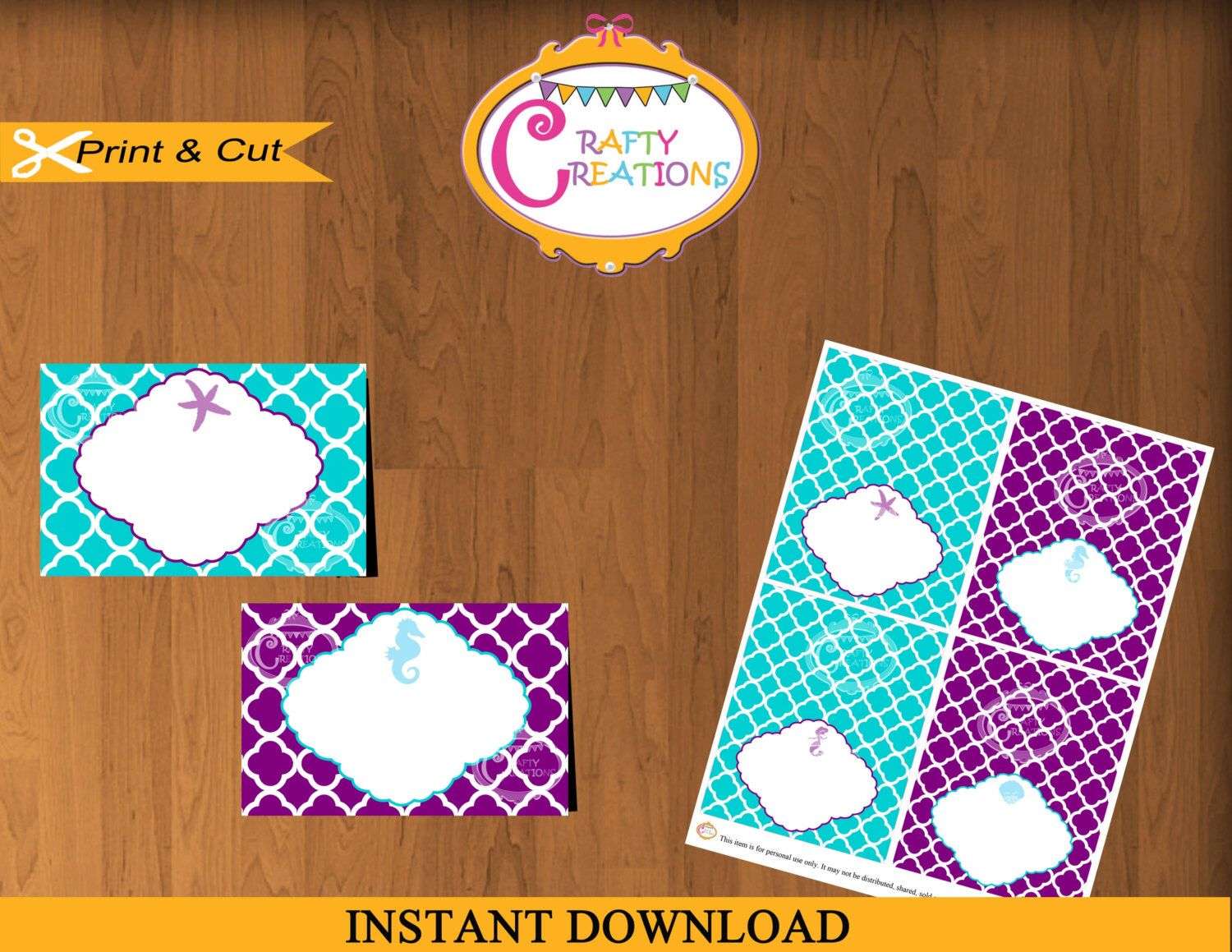 Mermaid Food Label Cards - Mermaid Birthday Party Printable Food Labels - Ariel Inspired Tent Cards  sc 1 st  Pinterest : ariel tent - memphite.com