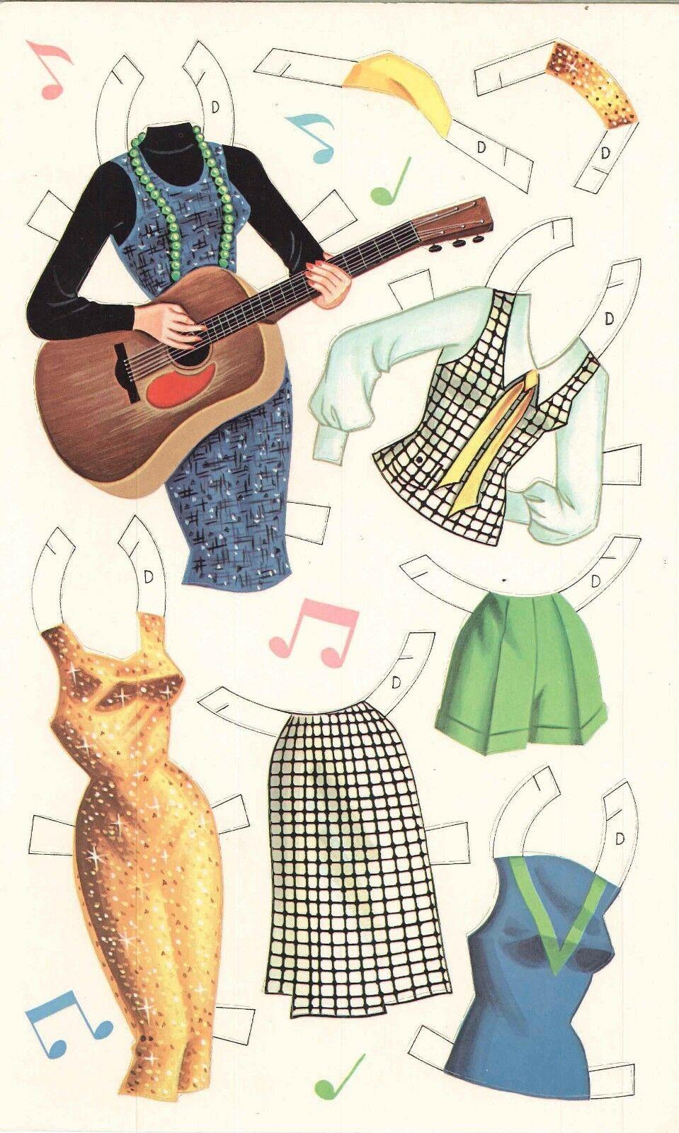 VINTAGE UNCUT 1956 ANN SOTHERN PAPER DOLLS HD LASER REPRODUCTION~LO PR~HI QUAL