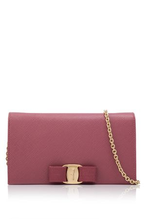 Vara bow wallet with chain - Pink & Purple Salvatore Ferragamo