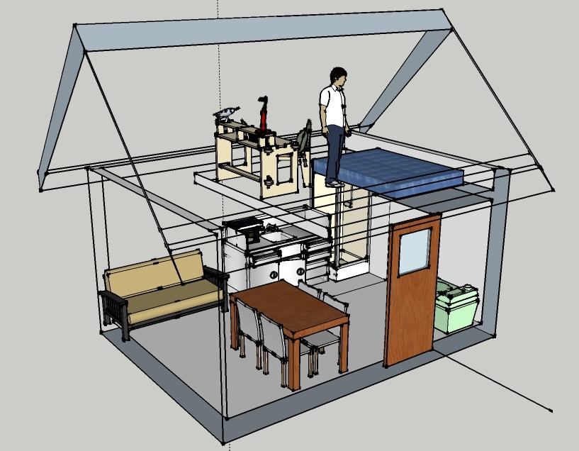 funky dwellings tiny cabin design - Small Cabin Design Ideas