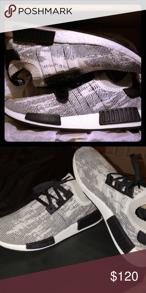 09122f744 Adidas NMD R1 Primeknit Men s size 10 Color  Sesame Off white adidas Shoes  Athletic Shoes