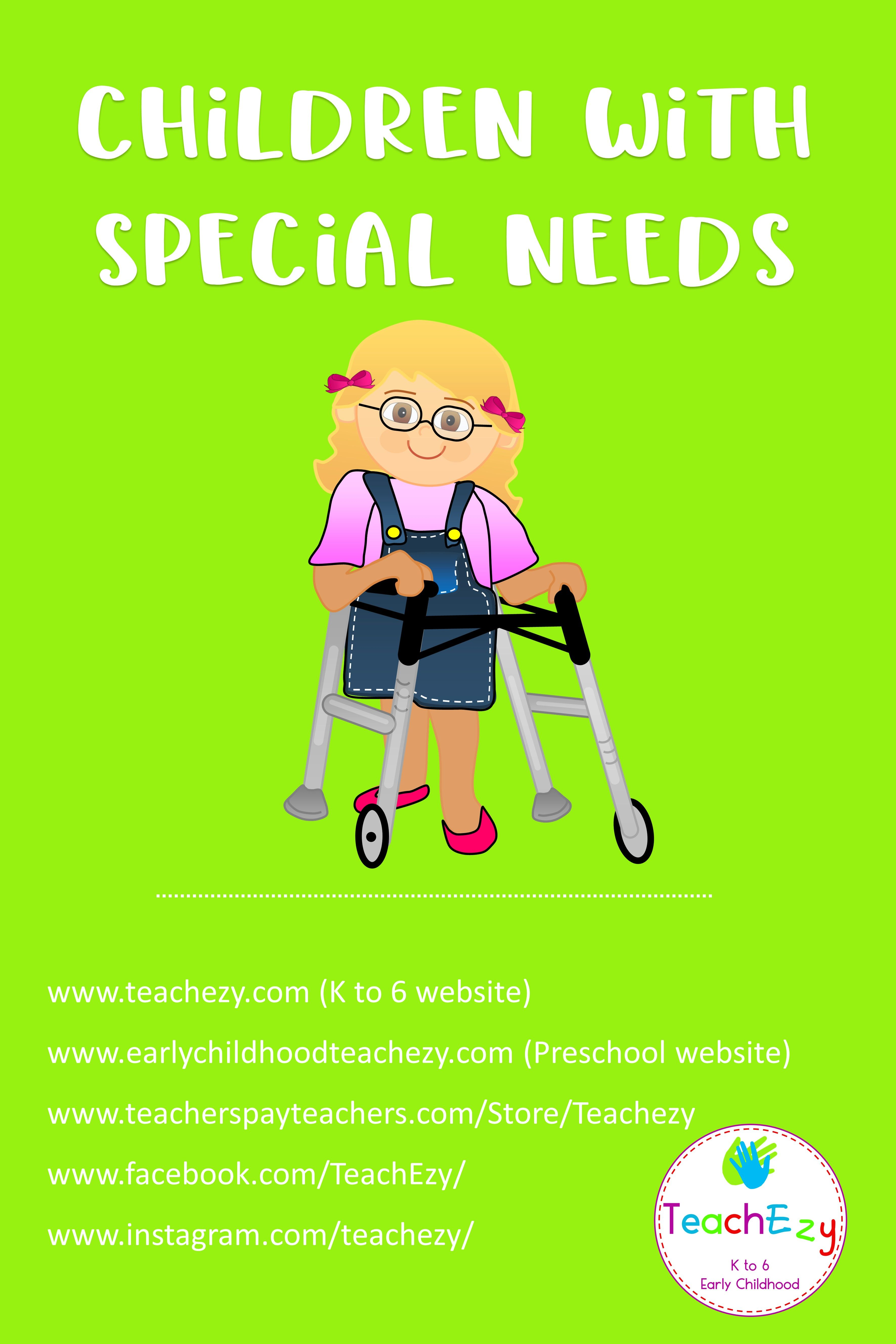Pin By Teachezy On Children With Special Needs