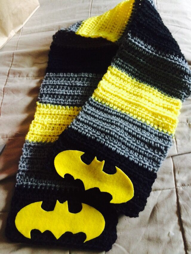 Batman Scarf Mostly Crochet And Some Knitting Too Crochet