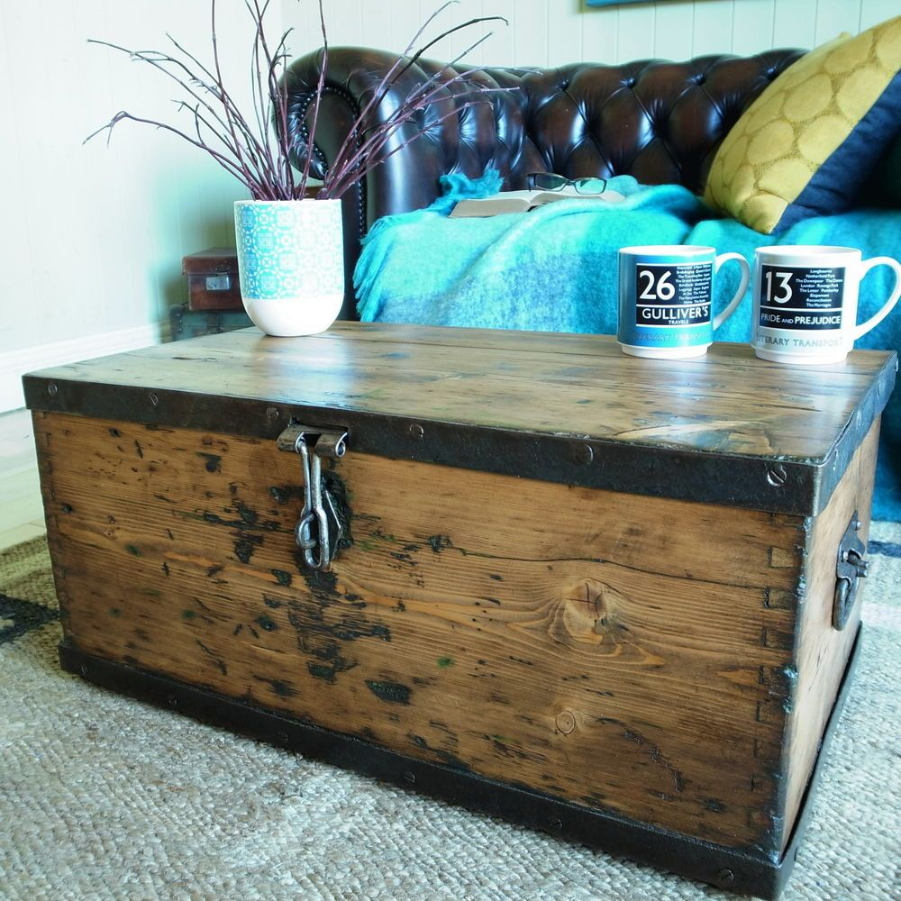 vintage chest storage trunk wwii military chest industrial ammo box coffee table vintage chest. Black Bedroom Furniture Sets. Home Design Ideas