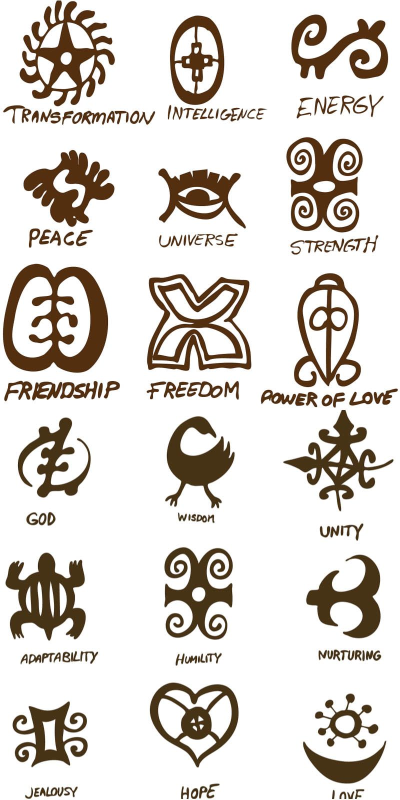 Ancient Symbols Of Love Vector Style Friendship Freedom