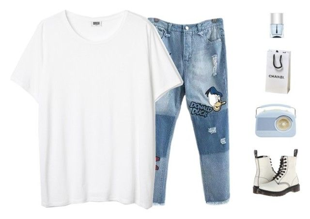 """Untitled #73"" by kayladxnielle on Polyvore featuring Dr. Martens and Nails Inc."