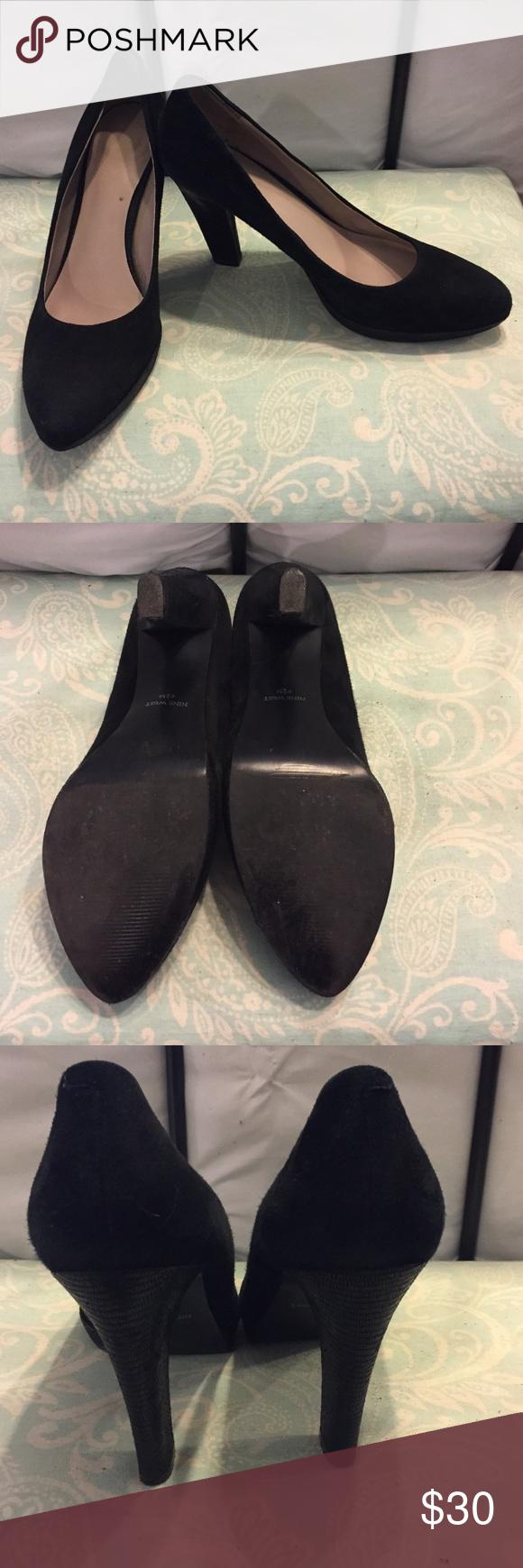 Nine West suede black heels Nine West heels.. excellent condition. They are too big for me. Nine West Shoes Heels