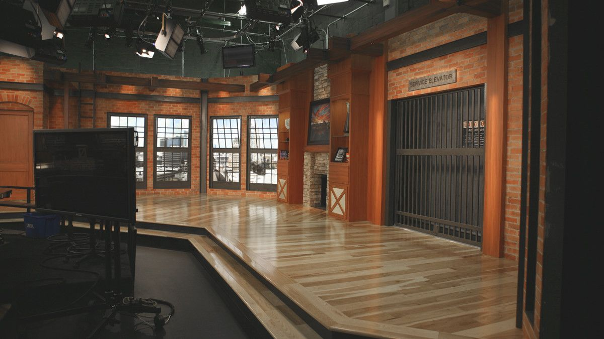 Tv Studio Verlichting Tv Interview Set Design Park Place Studio Late Tv Show Tv Set