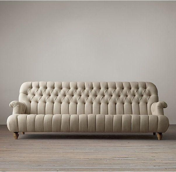 8 1860 Napoleonic Tufted Upholstered Sofa Luxury Furniture Sofa