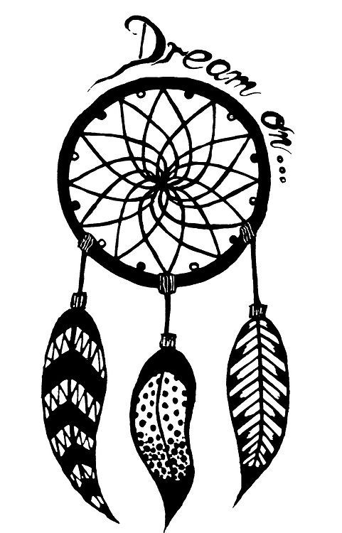 How To Draw A Simple Dream Catcher dream catcher draw Buscar con Google black Pinterest 8